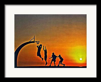 Streetball Paintings Framed Prints