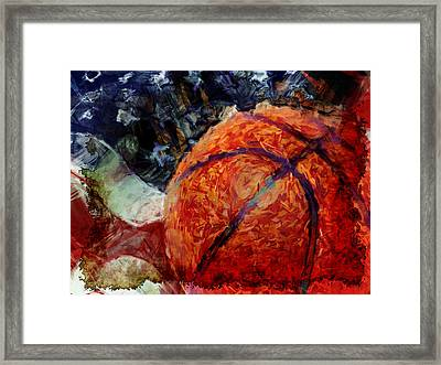 Basketball Usa Framed Print