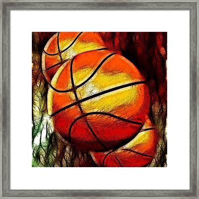 Basketballs Abstract Framed Print