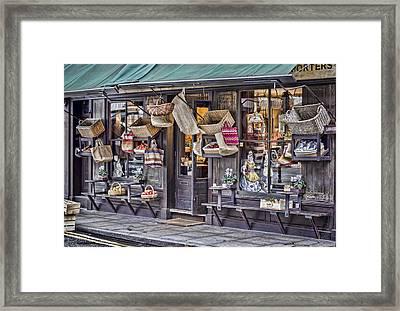 Baskets For Sale Framed Print by Heather Applegate