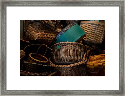 Baskets Galore Framed Print