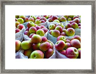 Baskets Of Apples  Framed Print by Sarah Mullin