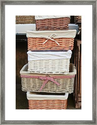 Baskets Framed Print by Tom Gowanlock