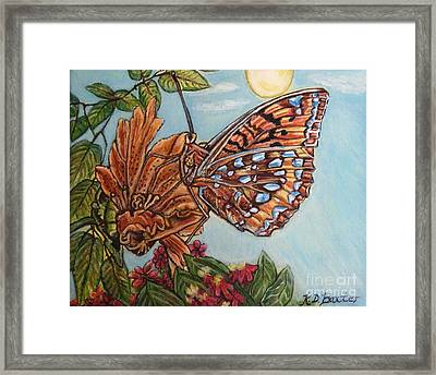 Basking In The Warmth Of The Sun In A Tropical Paradise Painting Framed Print