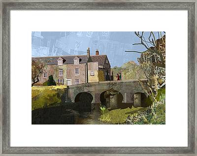 Baslow Bridge Framed Print by Kenneth North