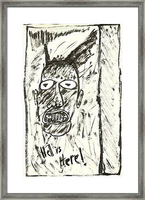 Basquiat - Hell Here 11-004 Framed Print by Mario Perron