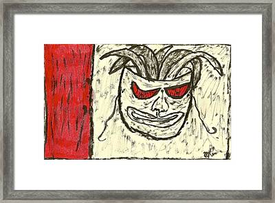Basquiat - Mask 11-002 Framed Print by Mario Perron