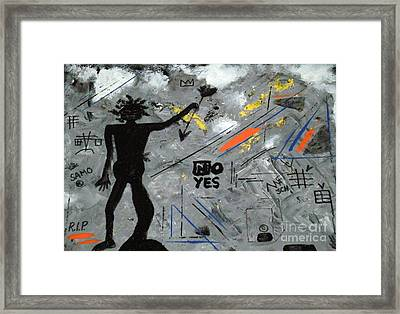 Basquiat Rest In Peace - Tribute Number 7 Framed Print by Scott Haley