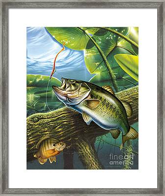 Bass And Pads Framed Print
