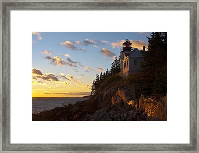Bass At Sunset Framed Print by Paul Miller
