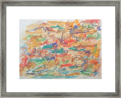 Bass Clef Framed Print by Esther Newman-Cohen