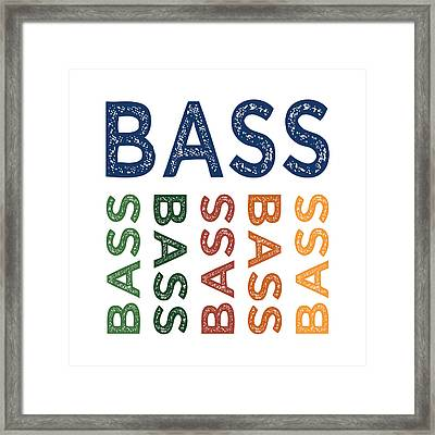 Bass Cute Colorful Framed Print by Flo Karp
