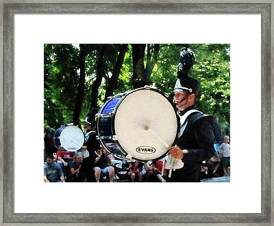 Bass Drums On Parade Framed Print