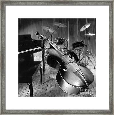 Bass Fiddle Framed Print by Tony Cordoza