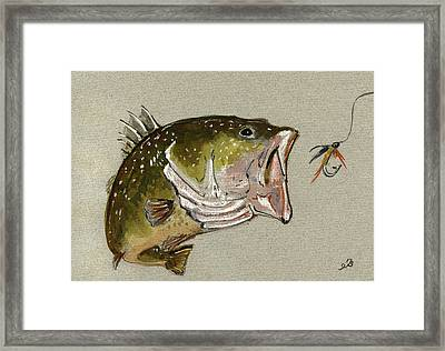 Bass Fish Fly Framed Print