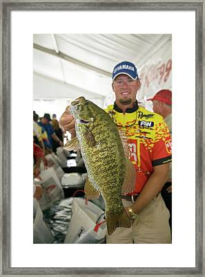 Bass Fishing Tournament Framed Print