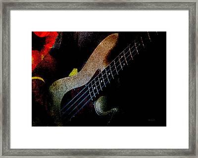 Bass Guitar Framed Print by Bob Orsillo