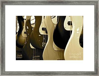 Bass Guitars  Framed Print