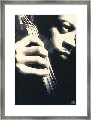 Bass Framed Print by Gun Legler