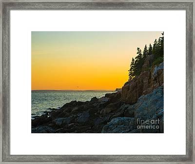 Bass Harbor  Framed Print by Diane Diederich