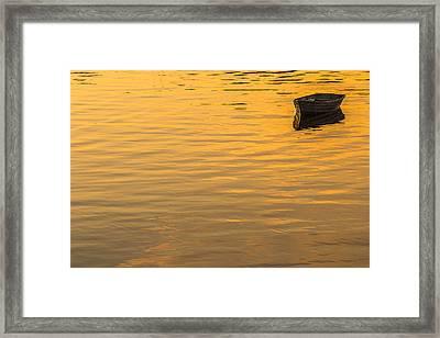 Bass Harbor Dinghy Framed Print by Joseph Rossbach