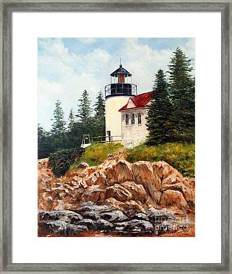 Bass Harbor Head Light Framed Print