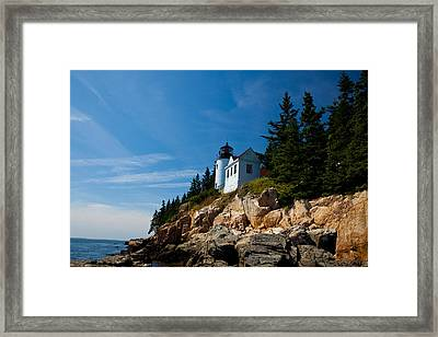 Bass Harbor Head Light Framed Print by Wayne Moran