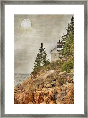 Bass Harbor Head Lighthouse. Acadia National Park Framed Print by Juli Scalzi