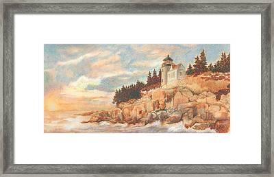 Bass Harbor Head Lighthouse Framed Print by Carol Kutz