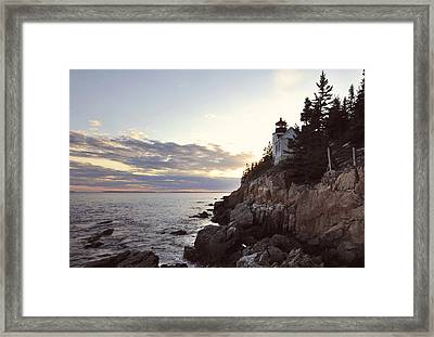 Bass Harbor Head Lighthouse Maine Framed Print by Terry DeLuco