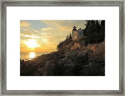 Bass Harbor Head Lighthouse Maine Usa Framed Print