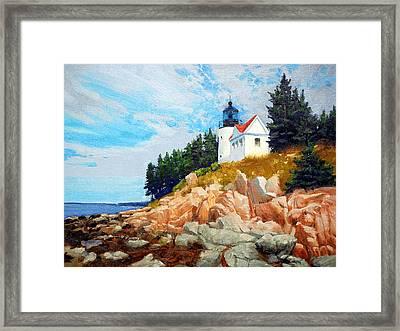 Bass Harbor Light Framed Print
