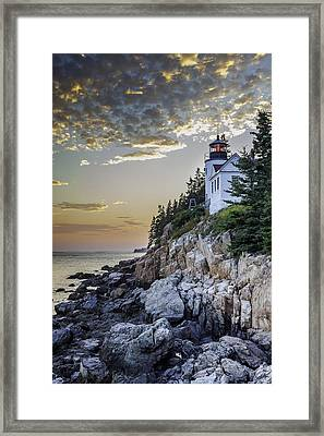 Bass Harbor Light House Framed Print
