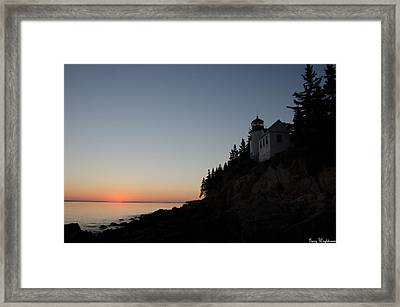 Framed Print featuring the photograph Bass Harbor Lighthouse by Gary Wightman