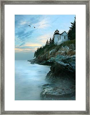 Bass Harbor Lighthouse Framed Print by Lori Deiter