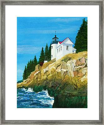 Bass Harbor Lighthouse Framed Print by Mike Robles