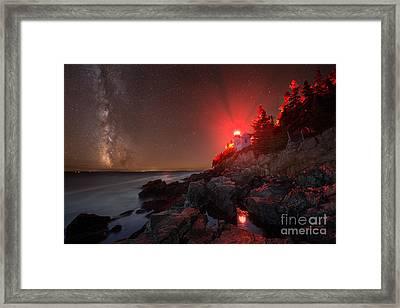 Bass Harbor Lighthouse Milky Way Framed Print