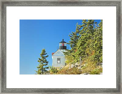 Bass Harbor Lighthouse Mount Desert Island Maine Framed Print