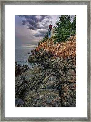 Bass Harbor Lighthouse Framed Print by Rick Berk