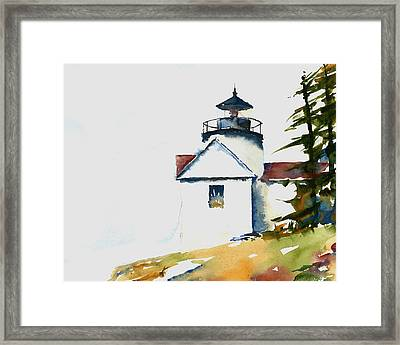 Bass Harbor Lighthouse Framed Print by William Beaupre