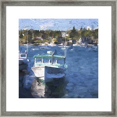 Bass Harbor Maine Painterly Effect Framed Print