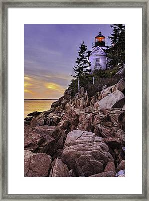 Bass Head Lighthouse Framed Print by Thomas Schoeller
