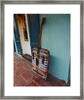 Bass Improvisation In New Orleans Framed Print