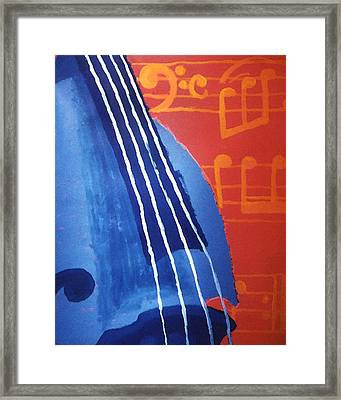 Bass Lessons Blues Framed Print