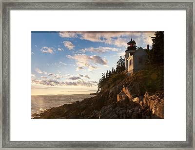 Framed Print featuring the photograph Bass Lighthouse by Paul Miller