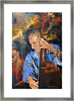 Bass Man Framed Print by Anthony Falbo