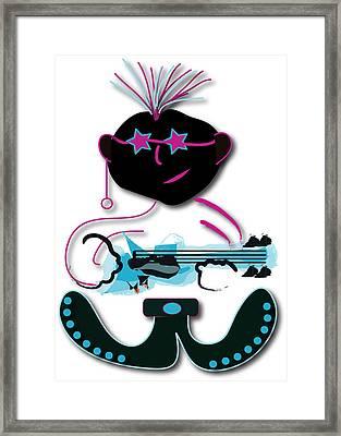 Framed Print featuring the digital art Bass Man by Marvin Blaine