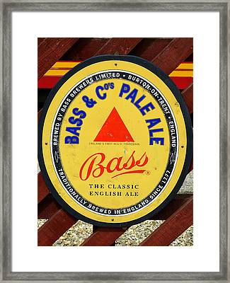 Bass Pale Ale Railway Sign Framed Print by Gordon James