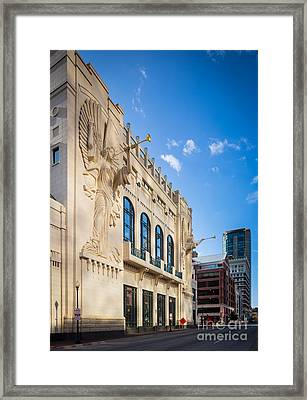 Bass Performance Hall Framed Print by Inge Johnsson