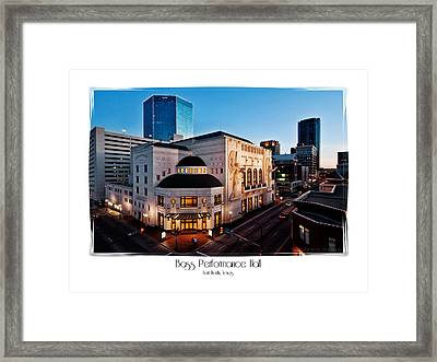 Bass Performance Hall Framed Print by Robin Weerts